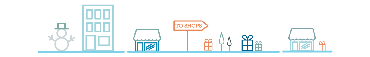 holiday shopping trail