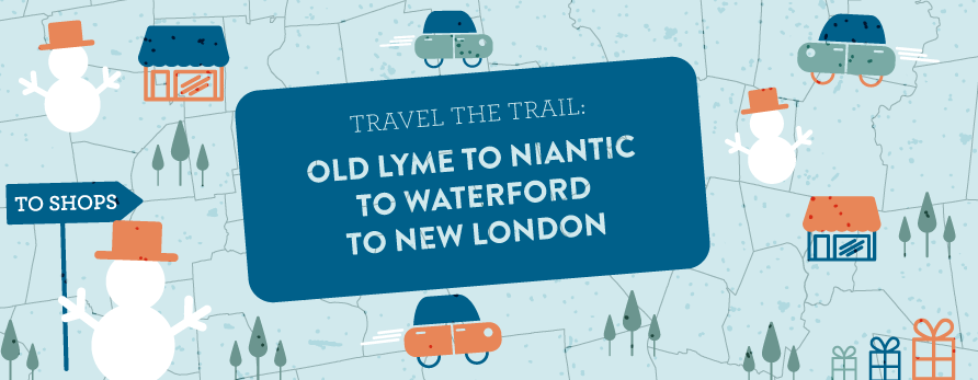 old lyme to niantic to waterford to new london