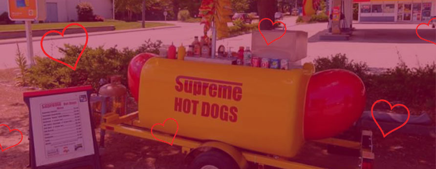 supreme hot dogs